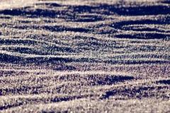 Crystal Snow dans le coucher du soleil Photos stock