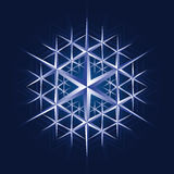 Crystal snow flake. Shiny ice crystal snow flake royalty free illustration