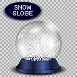 Crystal snow globe transparent and isolated. Royalty Free Stock Image