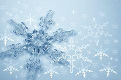 Crystal Snowflake Royalty Free Stock Photography