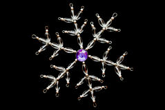 Crystal Snowflake Royalty Free Stock Images
