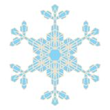 Crystal Snowflake illustration stock
