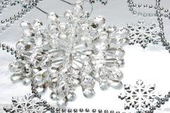 crystal snowflake Arkivbild