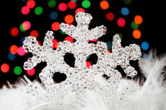 Crystal Snowflake Stock Photos