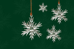 Crystal snowflake ornaments Stock Images