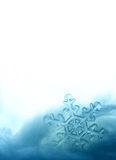Crystal snowflake page Stock Photo