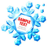 Crystal snowflake with text. Vector illustration Royalty Free Stock Photos