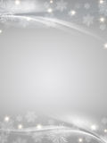 Crystal snowflakes grey background Royalty Free Stock Photos