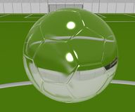 Crystal Soccer Ball Royalty Free Stock Photography