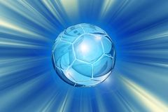 Crystal Soccer Ball Background Stock Image