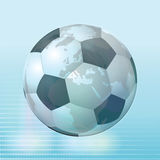 Crystal Soccer Ball Illustration Stock Photo