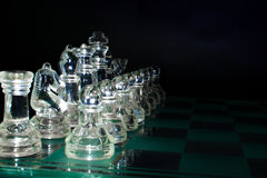 Crystal soldiers ready for battle Royalty Free Stock Photography
