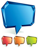 Crystal speech bubble. Stock Photos