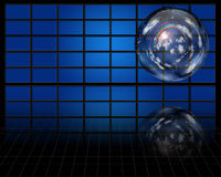 Crystal sphere contains atmosphere Stock Images