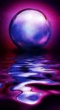 Crystal Sphere in den klaren Farben Stockbilder