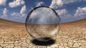 Crystal Sphere in desert Stock Images