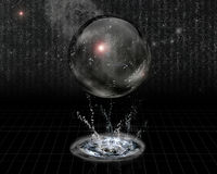 Crystal Sphere and splash Royalty Free Stock Images