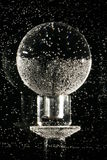Crystal sphere underwater royalty free stock photography