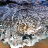 Crystal shiny wave bubbles