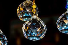 Crystal Spheres Geometric Shapes imagenes de archivo
