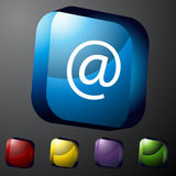 Crystal Square Icons. An image of crystal square icons Stock Photography