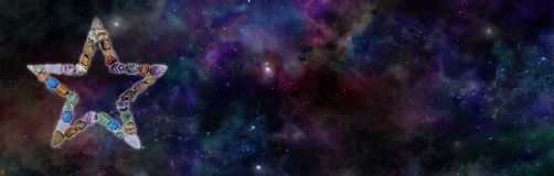 Crystal Star Background Banner cosmique illustration libre de droits