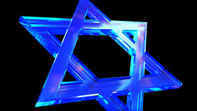 Crystal Star of David slowly flies into the frame stock footage