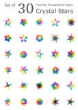 Crystal Star Logo Immagini Stock