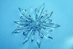 Crystal star, snowflake Royalty Free Stock Image