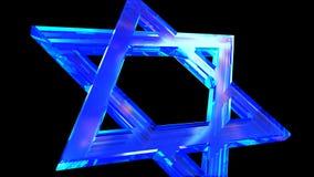 Crystal Star von David fliegt langsam in den Rahmen stock footage