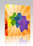 Crystal stars box package Royalty Free Stock Images