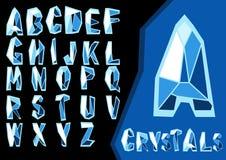 Crystal stilsort stock illustrationer
