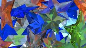 Crystal stjärnor Arkivfoton