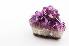 Crystal Stone, cristales ásperos púrpuras de la amatista Imagen de archivo libre de regalías