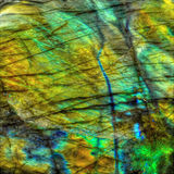 Crystal Stone Labradorite Gemstone Fotos de Stock Royalty Free