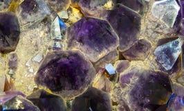 Crystal Stone macro. Royalty Free Stock Photos