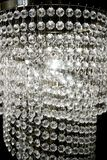 Crystal Strass Lamp White Over Black Background Royalty Free Stock Photo