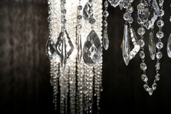 Crystal strass lamp white over black background Royalty Free Stock Images