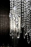 Crystal strass lamp white over black background Stock Photo