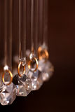 Crystal strass lamp white over Royalty Free Stock Images