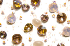 Crystal strasses. On a white background. isolated Stock Photography