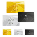 Crystal structure metal premium card collection Stock Image