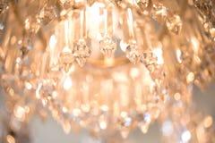 Crystal stycken av ljuskronan Arkivfoto