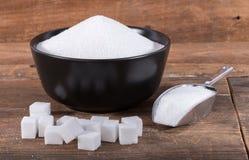 Crystal sugar and sugar cubes Stock Photography