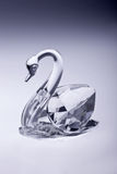 Crystal swan Stock Photos