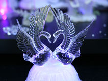 Crystal swans Stock Photo