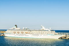 Crystal Symphony cruise in the port of Barcelona, Spain Stock Images