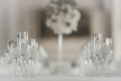 Crystal Table Setting Arkivfoton