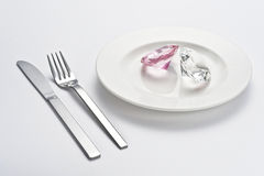 Crystal and tableware Royalty Free Stock Image