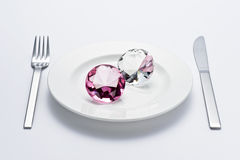 Crystal and tableware Stock Images